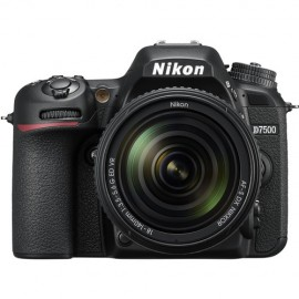 Nikon DSLR D7500 20,9MP - Sensor DX - Vídeo 4K/UHD - Lente AF-S 18-140mm VR