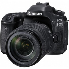 Canon EOS 80D Sensor APS-C CMOS 24.2MP, Lente 18-135mm f/3.5-5.6 IS USM NANO