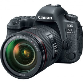 Canon Eos 6D Mark II - Sensor CMOS de 26.2MP Processador  DIGIC 7, WIFI, GPS, com Lente EF 24-105mm f/4L IS II USM